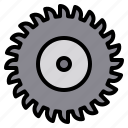 circular, construction, equipment, repair, saw icon