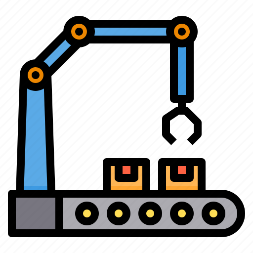 Conveyor, engineering, factory, industry, manufacturing icon - Download on Iconfinder