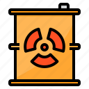 energy, fuel, gas, nuclear, tank icon