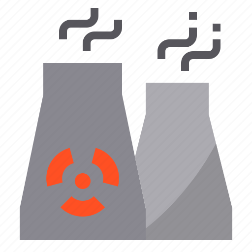 ecology, energy, environment, nuclear, plant icon