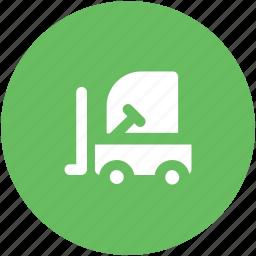 fork truck, forklift, forklift truck, lift truck, lifter, transportation, truck icon
