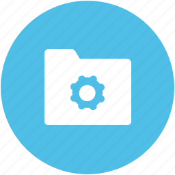 cog, cogwheel, folder, folder cog, folder settings, gear file icon