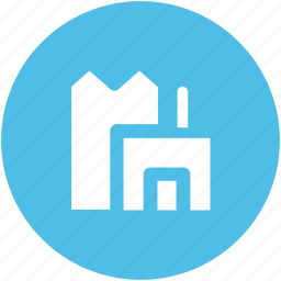 corporate, eco building, factory, industry, manufacturer, production icon