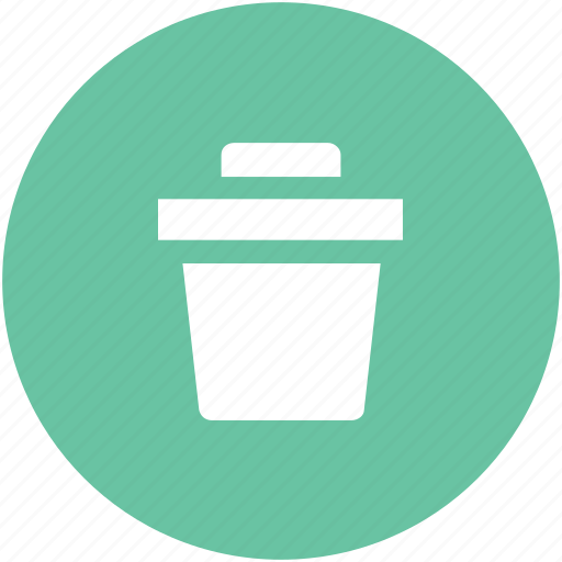 bin, dustbin, garbage container, recycle bin, trash, trashcan icon