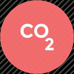 carbon, co2 emission, co2 formula, dioxide, ecology waste icon