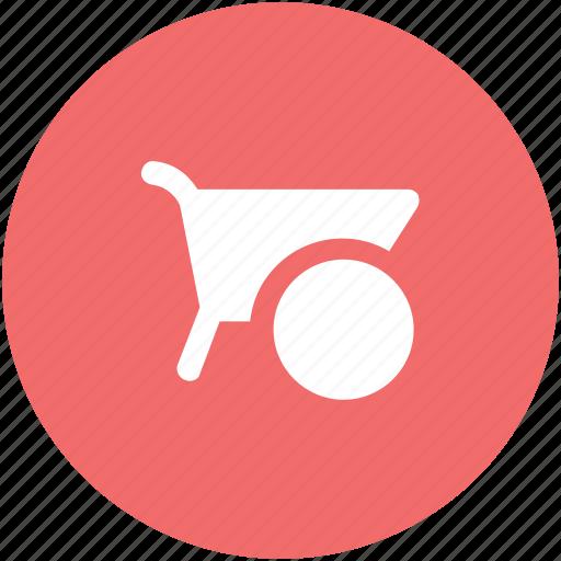 barrow, cart, garden trolley, hand cart, hand truck, trolley, wheelbarrow icon