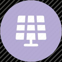 electric, solar cell, solar energy panel, solar panel, solar system, sun solar icon
