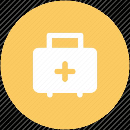aid kit, emergency bag, first aid, med kit, medical bag icon