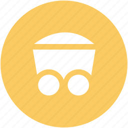 barrow, cart, coal trolley, concrete trolley, industrial, mine cart, trolley icon
