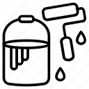 paint, paint bucket, paint can, paint tool, painting icon