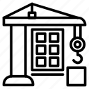 building construction, construction, construction site, construction work, house construction icon