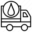 fuel supply, oil supply, oil transport, oil transport vehicle, petroleum delivery icon