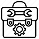 repair kit, repairing, spanner, tool kit, toolkit icon