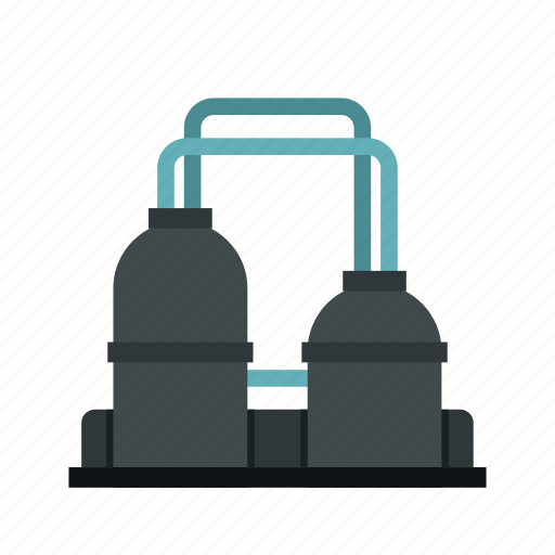 building, factory, gas, oil, plant, refinery, tank icon