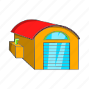 box, cartoon, illustration, sign, transportation, warehouse icon