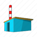 business, cartoon, chemical, factory, industry, sign, warehouse icon