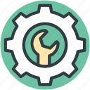 cog, option, repair tools, setting, wrench icon