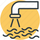 faucet, water, water plant, water supply, water system icon