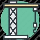 building construction, construction crane, construction equipment, construction tower, machinery icon