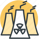 nuclear plant, plant, power plant, thermal plant, unit icon