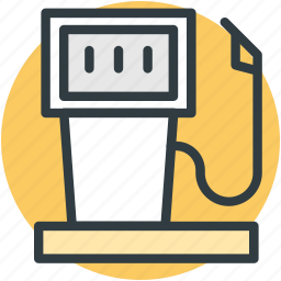 fuel dispenser, fuel pump, gas station icon