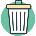 ash bin, dustbin, garbage can, trash can, wastebin icon