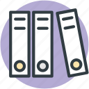 binders, file folders, files, folders, office documents icon