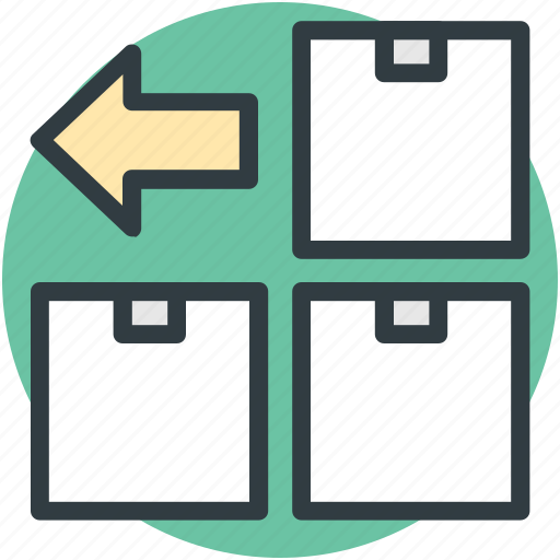 boxes, packages, packed boxes, parcels, sealed boxes icon