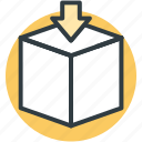 download, packaging, carton box, down arrow