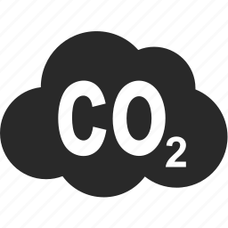 carbon dioxide, cloud, gas, industry, nature, sky icon