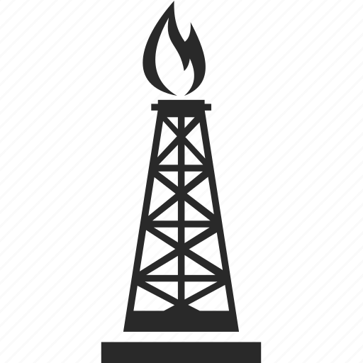 oil derrick logos energy industry oil rig icon 5542