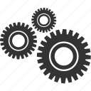 circle, engineer, gear, industry, mechanism, tool icon