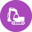digging, excavation, excavator, machine, mining, sand, vehicle icon