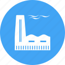 building, energy, factory, industry, metal, plant, steel icon
