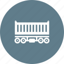 cargo, container, goods, railway, transportation, wagon icon