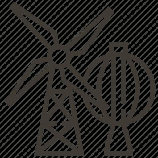 industrial, turbine, windmill icon