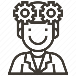 avatar, configuration, gears, man, options, settings icon