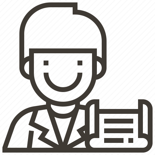 avatar, document, man icon