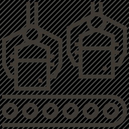 conveyor, conveyor belt, production, production line icon