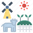 agricultural, agriculture, cultivate, farm, rural icon