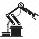 automation, machine, manufacturing, production, robot, robotic arm, robotics icon