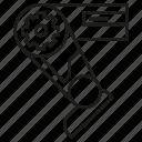 artificial intelligence, automation, leg, machine, manufacturing, robot, robotic leg icon