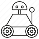 artificial intelligence, manufacturing, rescue robot, robot, robotic arm, toy icon