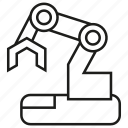 automation, cnc, industry, machine, manufacturing, robot, robotic arm icon