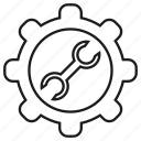 cog, fix, gear, repair, tool, wrench icon