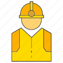 engineer, helmet, mechanic, safety, technician icon