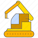 bulldozer, dig, excavator, loader, machinery, mining, tractor icon