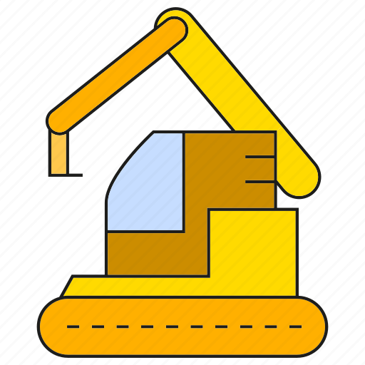 bulldozer, dig, excavator, loader, machinery, mining, tractor icon