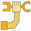 fix, hand, labor, mechanic, repair, tool, wrench icon