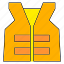 safety, safety vest, vest icon